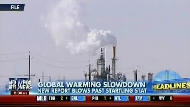 Fox News on the morning of September 27, 2013, covering the new IPPC report.