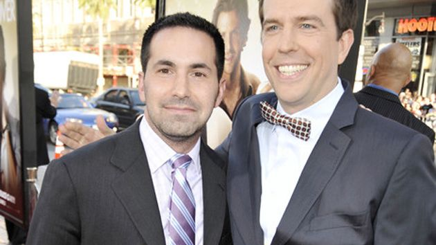 "Budnick with actor Ed Helms at the premiere of ""The Hangover Part II."""