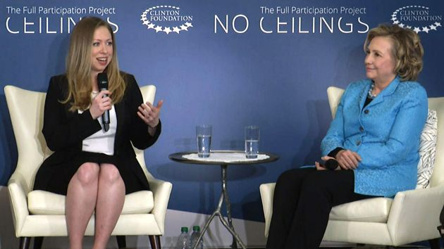 Chelsea and Hillary Clinton in New York City on Thursday.