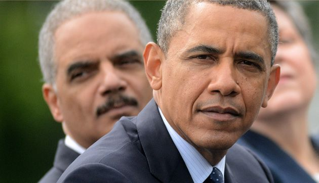 Eric Holder and President Obama