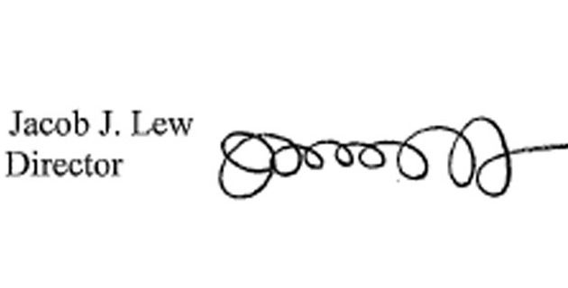 jack lew signature
