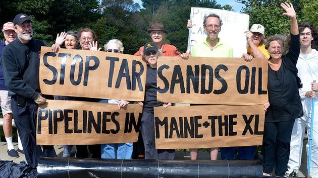 Maine pipeline protest