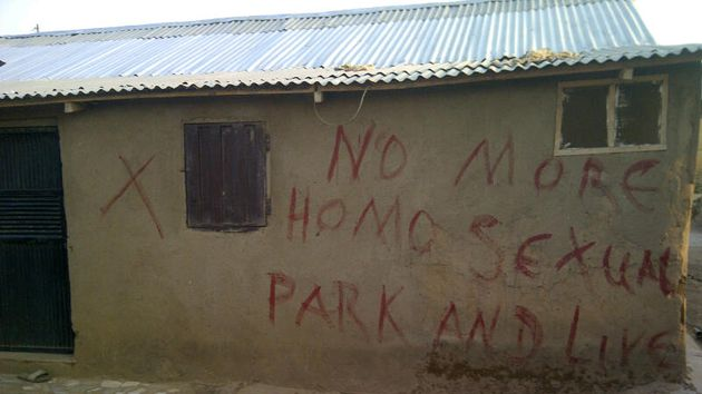 Anti-gay graffiti in Nigeria