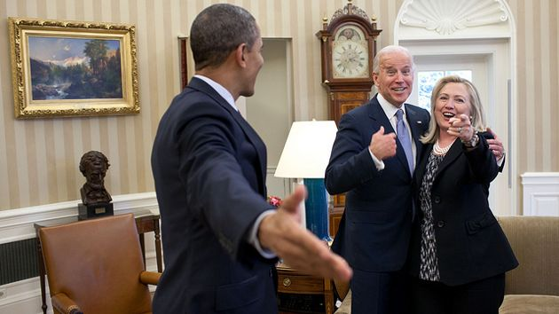 Obama, Biden, and Clinton