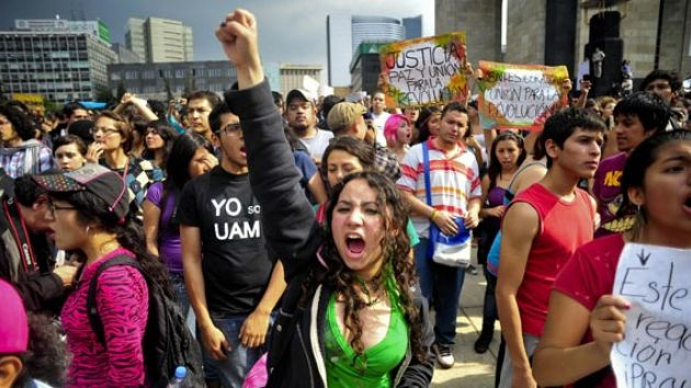 Thousands marched in Mexico City on July 2 in opposition to newly elected Enriqu