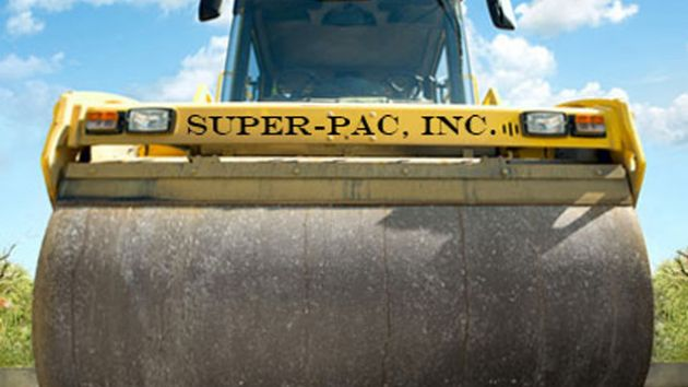 "A steamroller that has the text ""Super-PAC, Inc."" printed on it"