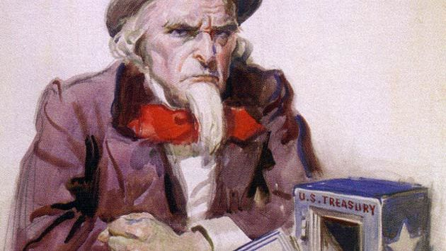 Uncle Sam, painted by James Montgomery Flagg