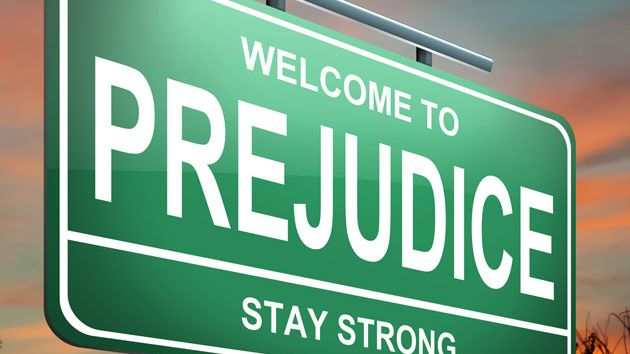 welcome to prejudice sign