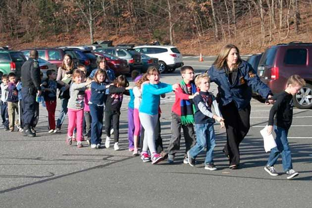 Students at Sandy Hook Elementary on morning of shooting