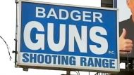 Badger Guns sign