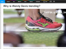 screenshot of on article with a photo of Wendy Davis' shoes