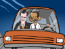 Romney and Obama in a driverless car