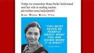 RNC Rosa Parks ending racism tweet