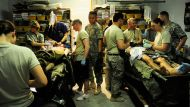 Soldiers treated for injuries