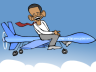 President Obama flying a drone
